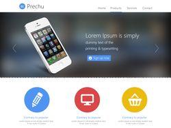 Prechu. Адаптивный Landing page
