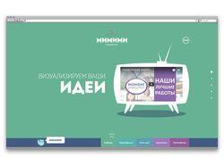 Верстка сайта mimimi-production.com