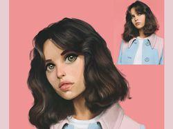 Портрет девушки digital art
