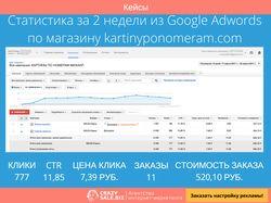 """Кейс продажи """"Картины по номерам"""" Google Adwords"""