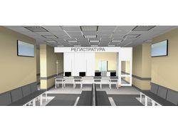 Дизайн регистратуры поликлиники
