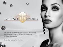Дизайн сайта салона красоты SCIENCE of BEAUTY