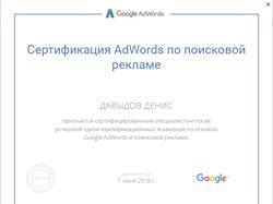 Сертификат Google Adwords (Поиск)