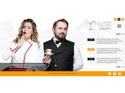 Сайт для развлекательной компании MusicTakein