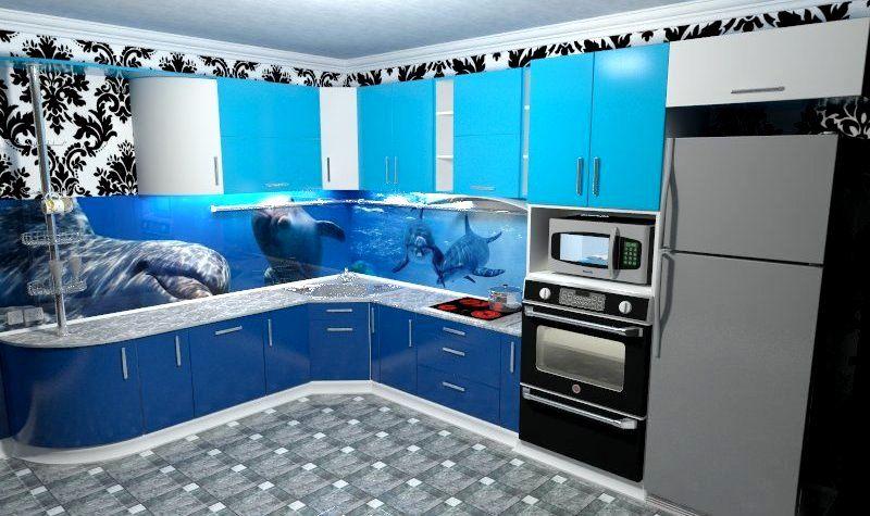 Дизайн кухни. визуализация в vray.