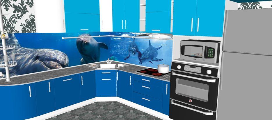Дизайн кухни. Проект в SketchUp