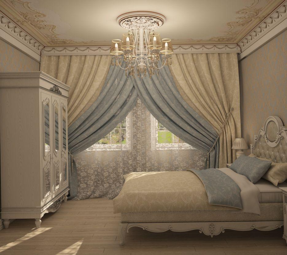 Взрослая спальня в стиле барокко