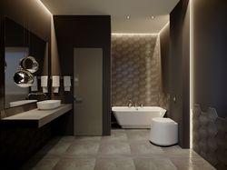 Design interior of a bathroom.