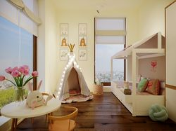 Interior design of the kidsroom in Lviv