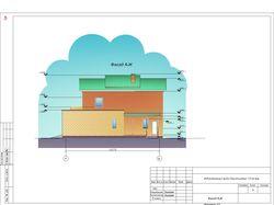 Проект коттеджа площадью 173,9 кв.м.