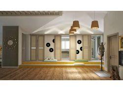 Дизайн проект 3 комнатной квартиры мансарды.