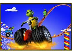 2D гонки с возможностью прыгать (Multiplayer )