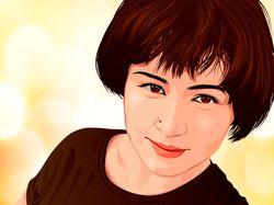 Векторный портрет в иллюстраторе