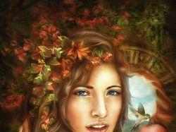 Digital painting - портрет под картину