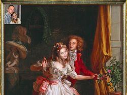 Коллаж - классический портрет пары