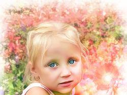 Арт-обработка детского фото в романтическом стиле