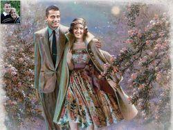 Коллаж - романтическая картина для влюбленной пары