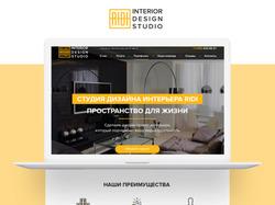 Дизайн-макет для сайта студии дизайна интерьеров