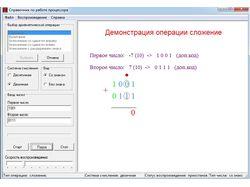 Визуализация арифметических операций в процессоре