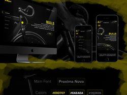 Дизайн сайта магазина велосипедов Bulls