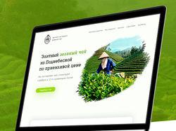Дизайн лендинга по продаже зеленого чая