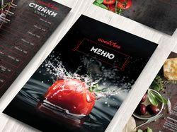 Дизайн и верстка меню для ресторана.