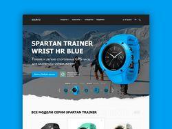 Промо страница часов SUUNTO модели SPARTAN