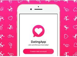 Дизайн для iOS приложения тематики Dating