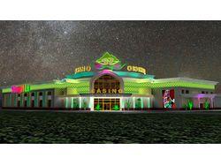 Наружное оформление казино (Казахстан)