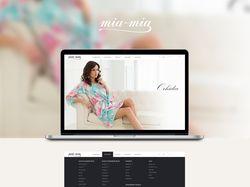 Женское белье «Mia-mia», дизайн сайта