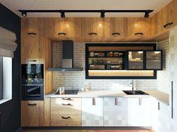 Дизайн-проект кухни в стиле лофт