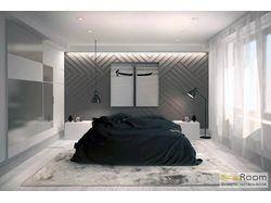 Дизайн-проект спальни в стиле минимализм