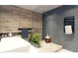 Дизайн-проект ванной в стиле лофт