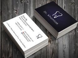 Логотип и визитные карточки для стоматолога