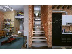 Квартира - студия в стиле лофт.