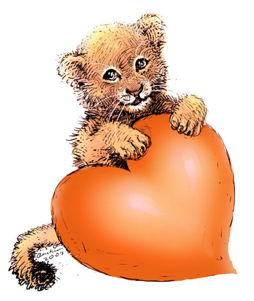 Весна английском, картинки с днем рождения львенок с сердечком