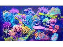 Digital illustration of sea corals.