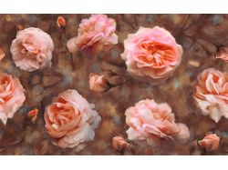 Винтажный паттерн из роз.