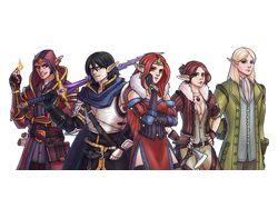 Команда персонажей для сессии в ролевой игре