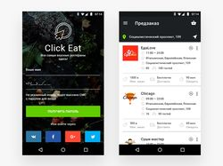 ClickEat — Android App Design