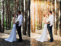 обработка свадебных фото