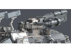 3D модель Sci-fi Танка