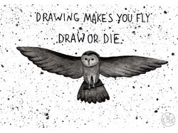 Drawing makes you fly