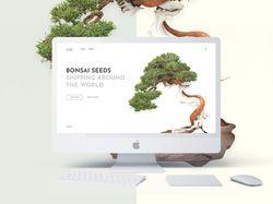 Концепт онлайн магазина Bonsai