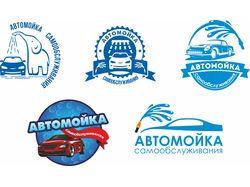 Логотип и визитка для автомойки самообслуживания.