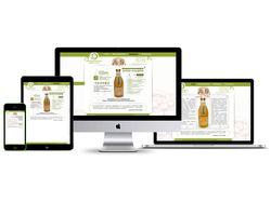 дизайн сайта по продаже соков