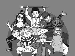 рисунок на заказ для праздника Хелоувин