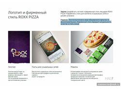 Логотип и фирменный стиль пиццерии ROXХ PiZZA