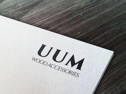 """Логотип деревянных изделий """"UUM"""""""