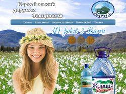 Сайт завода по розливу минеральных вод ЧП Барзул О